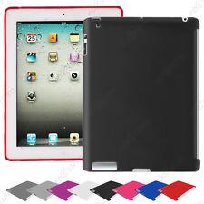 Accessoire Housse Etui Coque Souple Silicone Gel Apple iPad 4 Retina 3 2 +Film