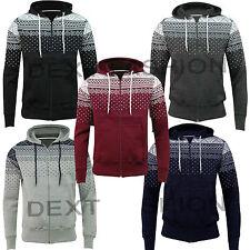 New Men's Aztec Hoodies Sweatshirt Top Jumper American Fleece Plain S M L XL