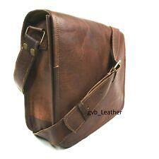 Vintage Novelty Leather Messenger Satchel Genuine Laptop Briefcase School Bag
