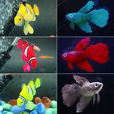 Artificial Plastic Clownfish Fighting Fish Tank Aquarium Ornament Decoration