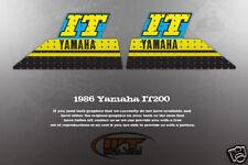 VINTAGE LIKE NOS YAMAHA 1986 IT200 TANK DECALS