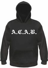 Anti flics Hoodie-altdeutsch-S à 3xl-noir-Capuche Sweatshirt Pull