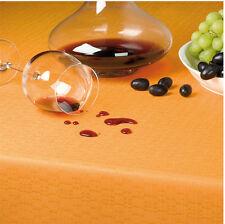 Tischdecke Leinenoptik mit Fleckschutz und 4- seitig gesäumt