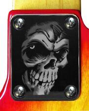 Neck Plate Neckplate Chrome Fender Strat Tele P Bass J Bass Guitar Skull Monster