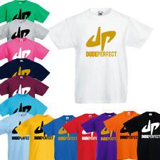 Dude Perfect Galaxy Logo Tee KIDS Merch 3-12 Years DP Birthday Gift