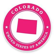 2 x 10cm Colorado USA Vinyl Sticker Laptop Car Travel Luggage Tag Flag Map #9373