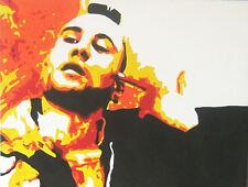Robert Deniro Original Mano Pintura Firmado Por Artista