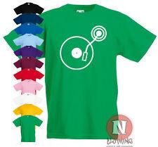 TOCADISCOS estampada infantil Camiseta 3-13 AÑOS estampado diseño DJ Música