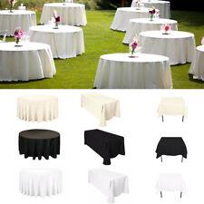 Uni Polyester Nappe de Table Housse Banquet Anniversaire Evénement Mariage Dîner