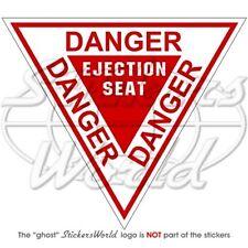DANGER Ejection Seat RAF Flugzeug Martin Baker Vinyl Sticker Aufkleber 120mm