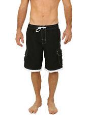 Uzzi Men's Relax Long Cargo Swim Trunks