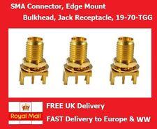 SMA Connector Edge Mount Bulkhead Jack Receptacle RF Coaxial 50ohm 18GHZ