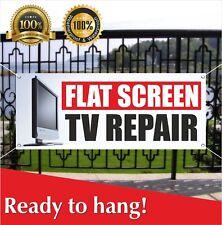 FLAT SCREEN TV REPAIR Banner Vinyl / Mesh Banner Sign Flag Service Plasma Lcd
