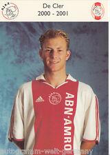 De Cler Ajax Amsterdam 2000-01 TOP AK +A24458