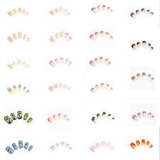 12 Künstliche Nägeln Airbrush Nails French Tips inkl. Nagelpads KP-1001