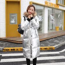 New Womens Long Winter Coat Thick fashion Metallic  down coat loose coat Hot