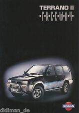 Prospekt Nissan Terrano II Freeway Sondermodell 1995 Autoprospekt 9 95 brochure