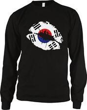 Republic of Korea Flag Lips Taegeukgi Trigrams Korean Pride Long Sleeve Thermal