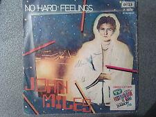 DISCO 45 GIRI JOHN MILES NO HARD FEELINGS NICE MAN JACK DECCA 1978 VG/G
