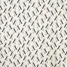 Prestigious Textiles Puffin Algodón Negro Tapicería De Cortina Cortina Tejido