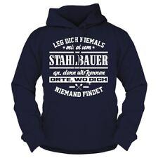 Con cappuccio Pullover stenditi mai con un acciaio Bauer a hoodie cemento costruzioni metalliche