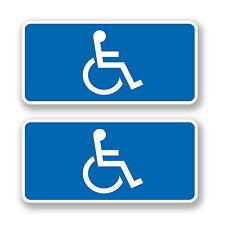 2 x blu disabili la mobilità Badge Auto Adesivo bus VW Campervan Camper Decalcomania 4440