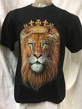 Lion de Juda avec couronne Double Face T-shirt noir Reggae Rasta Roots