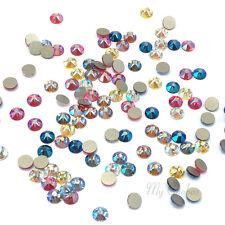 144 Swarovski 2058/2088 crystal flatbacks rhinestones Shimmer Effect Colors Mix