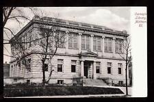 1906 carnegie library mattoon illinois postcard