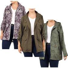 Womens Printed Lightweight Hooded Fishtail Mac Showerproof Raincoat Jackets 8-16
