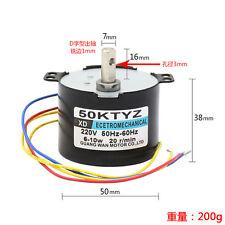 50KTYZ AC220V 10W 0.5A 2.5-50r/min Permanent Magnet Synchronous Motor CW/CCW