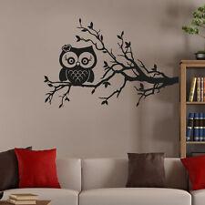 Wandtattoo Süße Eule Blätter Baum Ast Aufkleber Wand Tattoo #2127