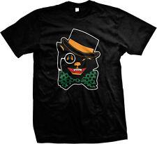 Halloween Black Cat Top Hat Bow Tie Cute Scary Omen Jinx Feline Mens T-shirt