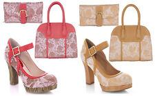 Ruby Shoo Cassandra Mary Jane Shoes & Matching Cancun Bag UK3-9 EU36-42