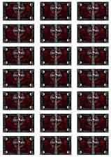 Pirate Cross Skull Flag Sticker Sheet