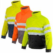 Projob Hi Vis Padded Work Jacket with Zipped Collar Class 3 - 646407