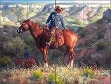 Ceramic Tile Mural Backsplash Sorenson Western Cowboy Horse Art RW-JS023