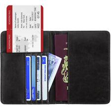 Passaporto RFID GUSCIO passaporto Custodia Protettiva Portafoglio Carte ASTUCCIO SUPPORTO IMPERMEABILE