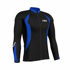 FDX homme maillot manches longues hiver usure froide thermique vélo veste-