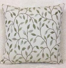 John Lewis Voyage Cervino Fabric Cushion Cover Elegant Leaf Trail Lichen Green