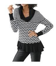 Linea Tesini Designer-col roulé, noir et blanc T 36 à 46 RRP: € 59.90
