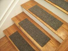 """Premium Carpet Stair Tread Sets - Brush Graphite - 30"""" x 8"""""""