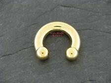 Circular Barbell Piercing Ohrring Nasenring Brust Septum Goldline Hufeisenring