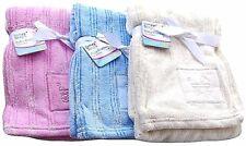 First Steps Super Soft Baby Blanket 75 x 100cm (Pink/Blue/White)