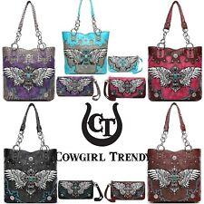 Cross Wings Western Style Concealed Carry Purse Totes Bag Women Handbag Wallet