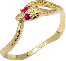 Gold CZ Ouroboros Snake Ring