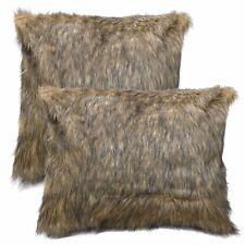 Fm701a Tan Brown Black Extra Long Faux Fur Cushion Cover/Pillow Case*Custom Size