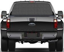 Carbon Fiber Grey Rear Window Graphic Decal Sticker Car Truck SUV Van Gray 274