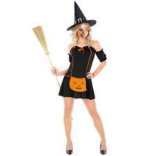 Disfraz de bruja calabaza mujer carnaval halloween traje vestido adulto damas