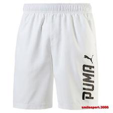 PANTALONCINO UOMO PUMA 590614 Rebel SHORT White Pantaloncini leggeri running
